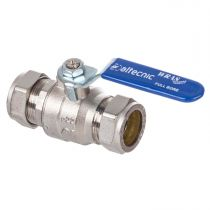 28mm Lever Ball Valve Blue Handle Full Bore (Wras Approved) AI-373B28