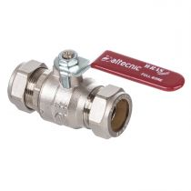 22mm Lever Ball Valve Red Handle (Wras Approved) AI-373R22