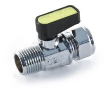 "8mm X 1/4"" Mini Ball Lever Gas Valve MI Straight"