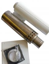 100mm Low Level Hor Flue Kit LLR100