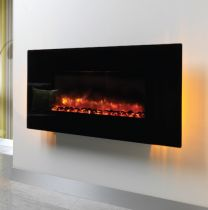 "Be Modern Orlando 42"" Flat Black Glass 32506"