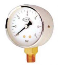 """Proline Pro-Gauge 0 to 6 bar Pressure Gauge 4"""" Dial size 3/8"""" Bottom Connection"""