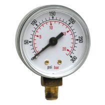Pressure Gauge - 0-300 Psi