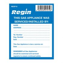 Gas Appliance Serviced Sticker Pack Of 8