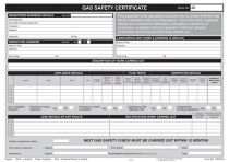 Gas Safety/Landlords Certificate Pad REGP46