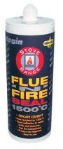 Flue'N'Fire Seal 1500°C Silicate Cement - Black