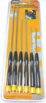 6 Piece Long Precision Screwdriver Set