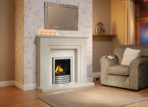 Elgin And Hall Radion Gas Fire With Black/Brushed Steel Devotion Trim Without Extra Canopy Smartslide