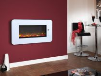 Celsi Touchflame White 2KW Logs or Crystals Remote Control CTLIFWRE