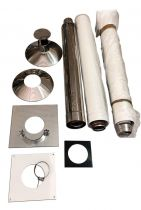 100mm Vertical Flue Kit(Complete) VTL100/C