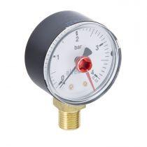 0/4 Bar Pressure Gauge  1/4 Inch 50mm Bottom Connection WI-557304