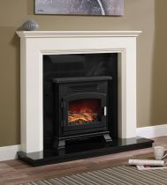 "Be Modern Westerdale 48"" Soft White Timber Surround"
