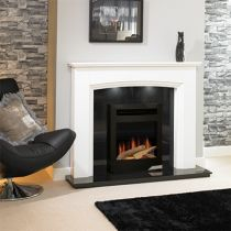 Evonic Detroit Electric Fire  Satin Stainless
