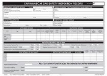Regin Caravan / Boat Gas Inspection Record Pad REGP47